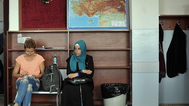 AFP Colegio electoral en Estabul durante las elecciones presidenciales turcas